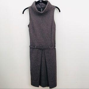 Benetton Sleeveless Structured Wool Dress w Belt